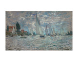Claude Monet - The Sailboats - Boat Race at Argenteuil, c. c.1874 - Poster