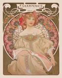 Alphonse Mucha - Reverie, c.1897 - Reprodüksiyon