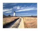 Cape Poge Lighthouse Poster by Paul Rezendes
