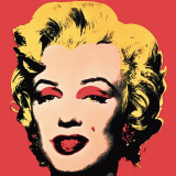 Marilyn, 1967 (On Red) Affiche par Andy Warhol