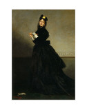Lady with a Glove, Madame Carolus-Duran nee Pauline Croizette, c.1869 Posters by Charles Émile Carolus-Duran