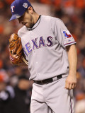Texas Rangers v San Francisco Giants, Game 1: Cliff Lee Photographic Print by Jed Jacobsohn