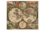 World Map, c.1689 Plakater