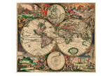World Map, c.1689 Posters