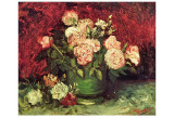 Roses and Peonies, c.1886 Kunst af Vincent van Gogh