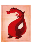 Dragon rouge Posters par John Golden