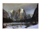 Cathedral Rock Yosemite Prints by Albert Bierstadt