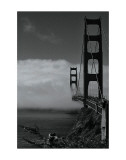 Golden Gate Fog Art by Sabri Irmak