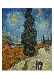 Country Road in Provence by Night, c.1890 Posters by Vincent van Gogh