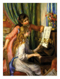 Two Young Girls at the Piano Print van Pierre-Auguste Renoir