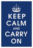 Keep Calm (navy) Reprodukce