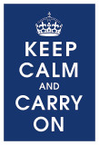 Keep Calm (navy) Poster