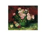 Roses and Peonies, c.1886 Posters af Vincent van Gogh