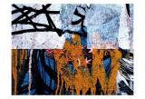 Blue Orange Layers I Poster by Jenny Kraft