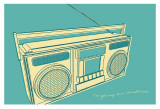 Lunastrella Boombox Posters by John Golden