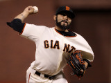 Texas Rangers v San Francisco Giants, Game 1: Sergio Romo Photographic Print by Ezra Shaw