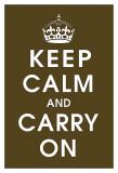 Keep Calm (chocolate) Plakát