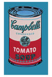 Campbell's suppedåse, 1965 (lyserød og rød), Campbell's Soup Can, 1965 (Pink and Red) Plakat af Andy Warhol