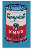 Lata de sopa Campbell, 1965, rosa y rojo Poster por Andy Warhol