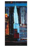 Manhattan Skyline Poster by Mark Gleberzon