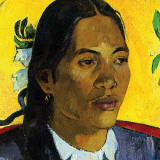 Woman With Flower (detail) Posters par Paul Gauguin