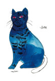 25 Cats Named Sam and One Blue Pussy by Andy Warhol, c.1954 (Blue Sam) Kunstdrucke von Andy Warhol