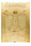 Leonardo da Vinci - Vitruvius Adamı, c.1492 - Reprodüksiyon