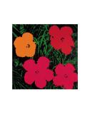 Blumen, 1964 (Rot, Pink und Gelb) Kunstdrucke von Andy Warhol