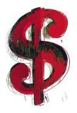 Symbole du dollar (1981) Affiches par Andy Warhol