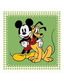 Classic Mickey Mouse and Pluto Prints