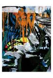 Blue Orange Layers III Posters by Jenny Kraft