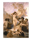The Birth of Venus Prints by William Adolphe Bouguereau