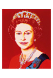Reigning Queens: Queen Elizabeth II of the United Kingdom, c.1985 (Light Outline) Láminas por Andy Warhol