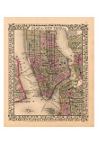 Plan of New York City, c.1867 Print
