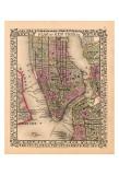 Plan of New York City, c.1867 Print