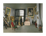 The Painter's Atelier in the Rue de la Condamine, c.1870 Prints by Frederic Bazille