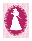 Sleeping Beauty Cameo Art