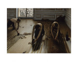 The Floor Scrapers, c.1875 Art by Gustave Caillebotte