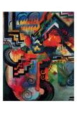 Colored Composition (Hommage a Sebastin Johann Bach) Prints by August Macke
