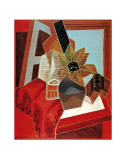 Flowers on the Table Art by Juan Gris