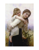 Not Too Much to Carry Affiches par William Adolphe Bouguereau