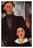 Portrait of Jacques and Berthe Lipchitz Posters by Amedeo Modigliani