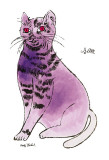 25 Cats Named Sam and One Blue Pussy by Andy Warhol, c.1954 (Purple Sam) Posters par Andy Warhol