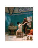 The Bath, ca. c.1880-1885 Art by Jean Leon Gerome