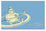 Lunastrella Space Station Prints by John Golden