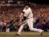 Texas Rangers v San Francisco Giants, Game 1: Aubrey Huff Photographic Print by Ezra Shaw