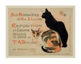 Exposition at Bodiniere Print van Théophile Alexandre Steinlen