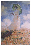 Woman with Parasol Art by Claude Monet