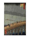 Sudden Shower Poster by Ando Hiroshige