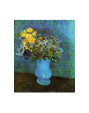 Vase with Lilacs, Daisies and Anemone Print by Vincent van Gogh